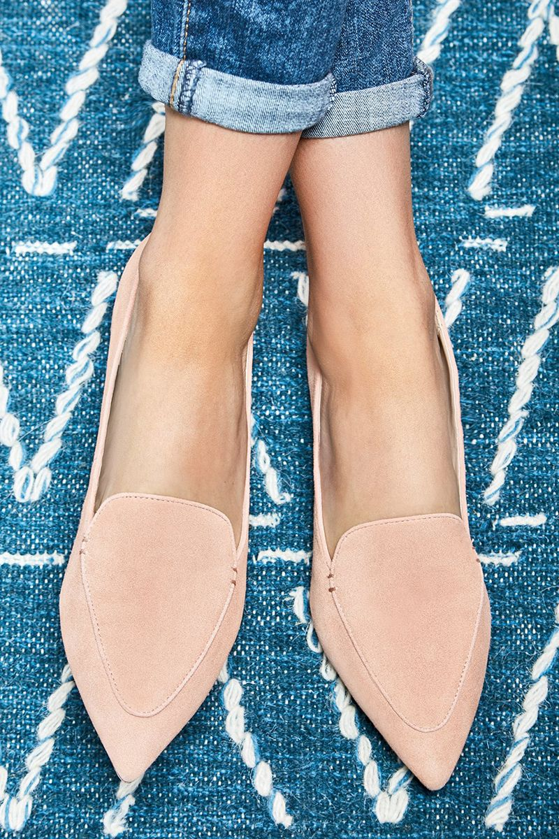Suede pointed toe flats | Sole Society