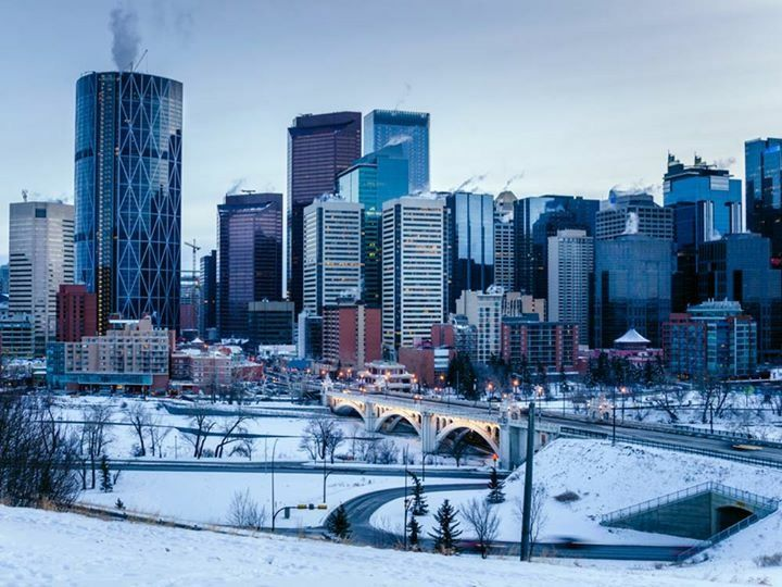 Thick Snow in Calgary Canada | Furniture store, Show home ...