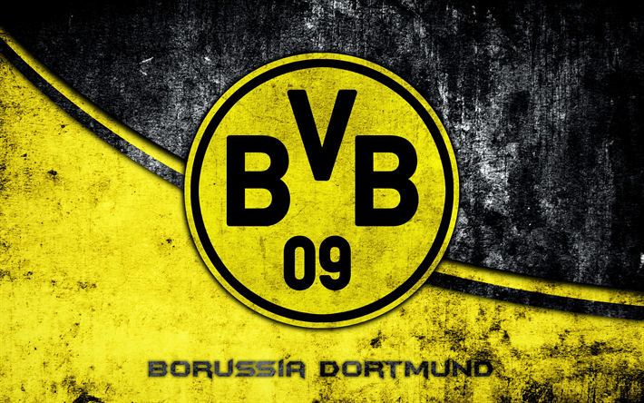 Download Wallpapers 4k Borussia Dortmund Grunge Logo Bvb Football Club Bundesliga Football Besthqwallpapers Com Bundesliga Logo Borussia Dortmund Wallpaper Borussia Dortmund