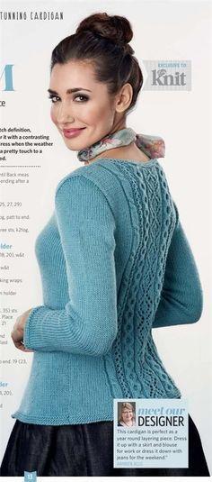 Голубой жакет. Вязание спицами.. Обсуждение на LiveInternet - Российский Сервис Онлайн-Дневников