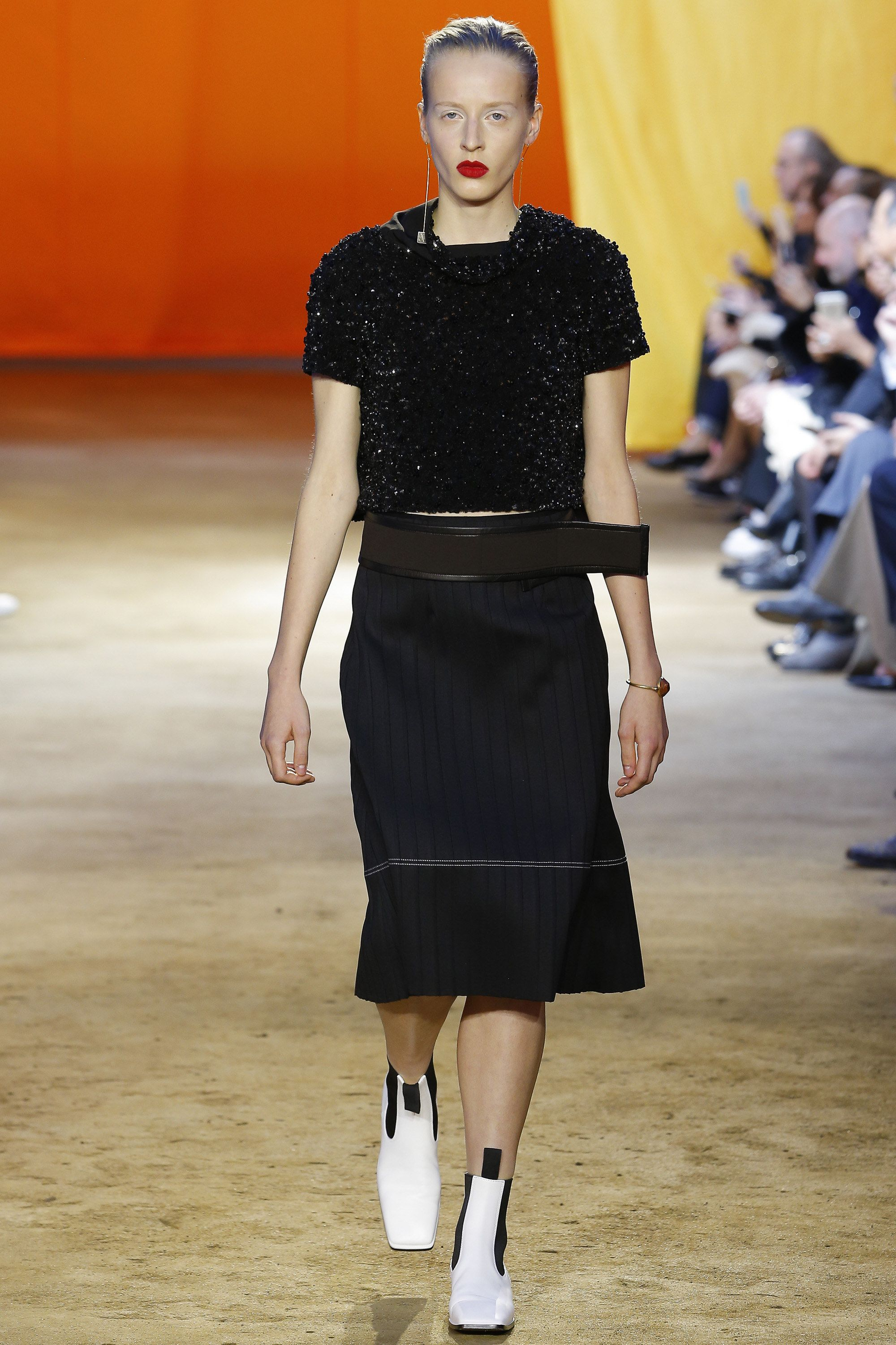 Céline Spring 2016 Ready-to-Wear Fashion Show - Maggie Maurer - sparkly tops are all the rage right now!