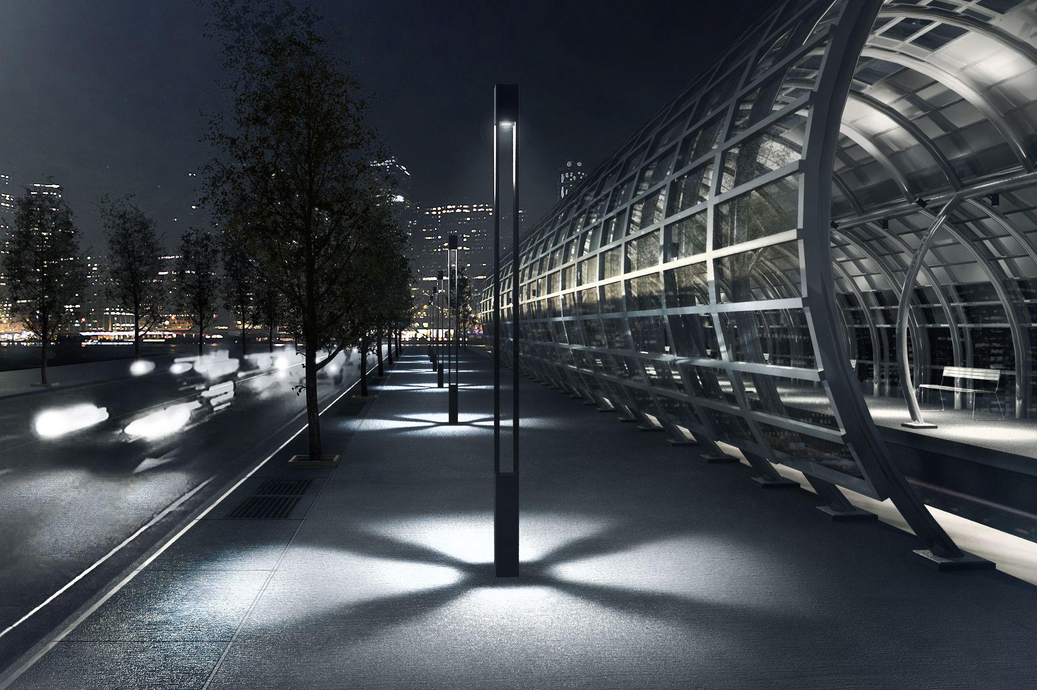 Vancouver Square Light Column Ligman Lighting Usa In Led