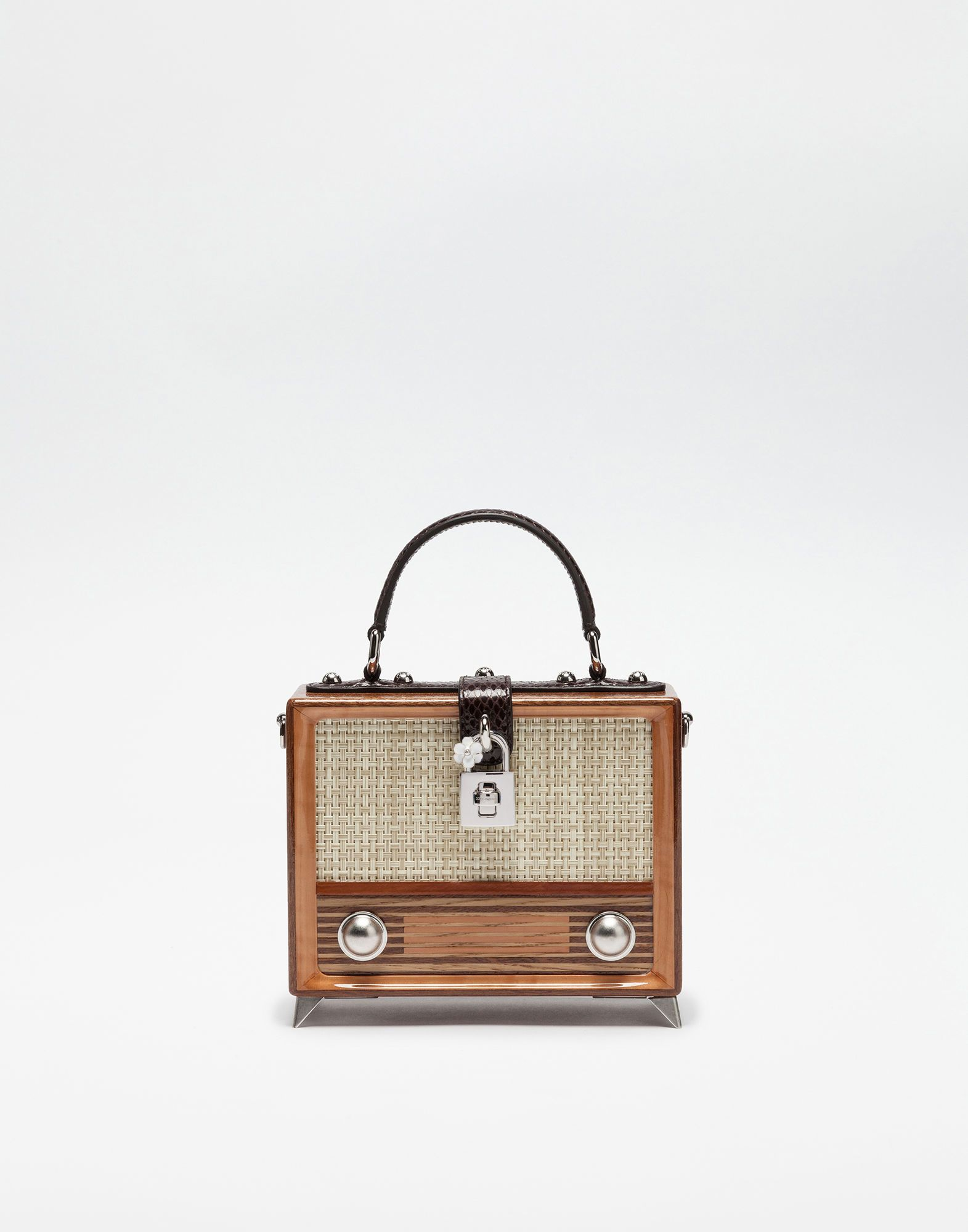 b1018a69af5a HAND-PAINTED WOOD RADIO DOLCE BOX BAG