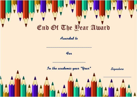 End of the year student award template student of the year award end of the year student award template yelopaper Gallery
