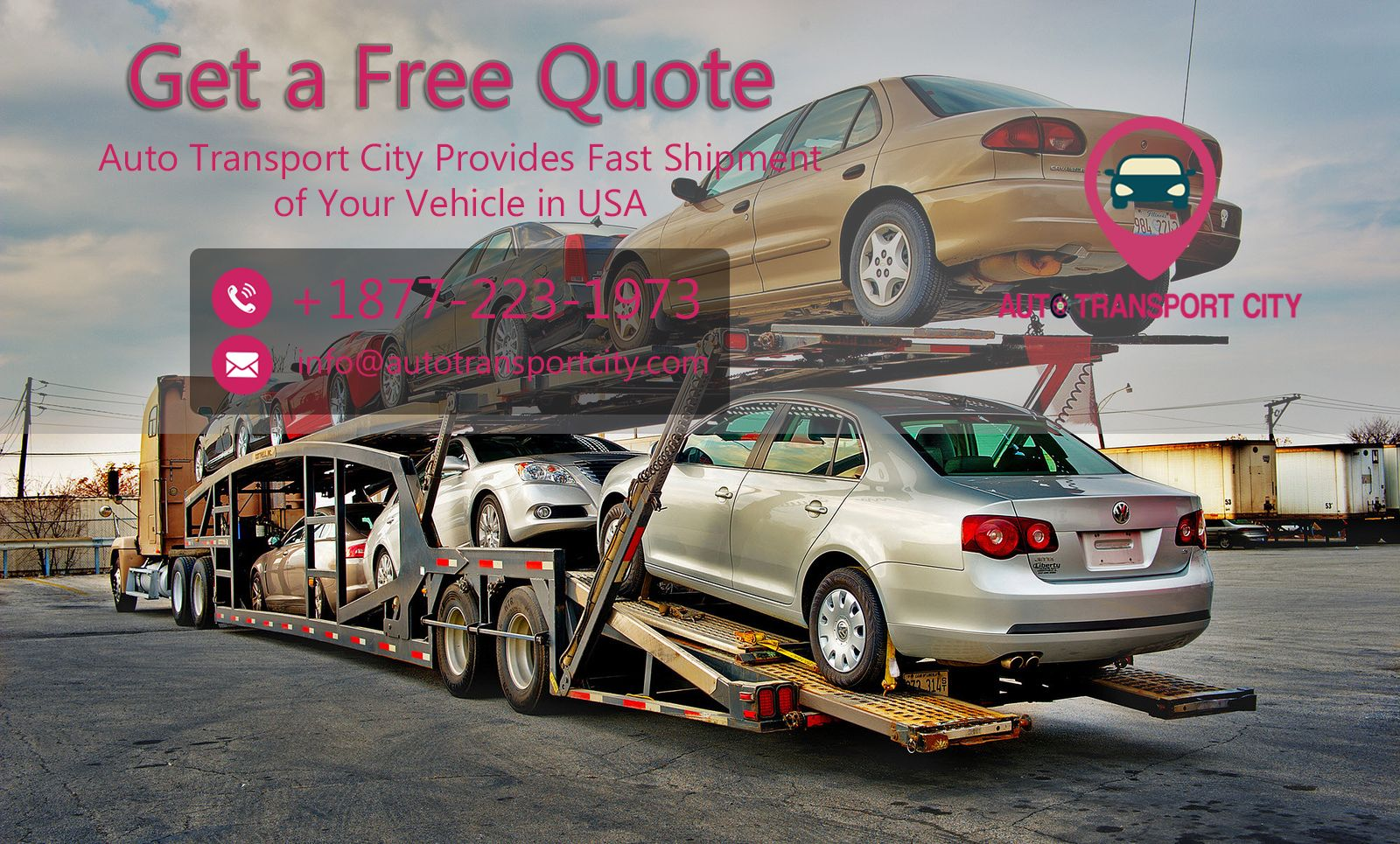 Auto Transport Quotes Stunning Pinauto Transport City On Get A Free Quote  Pinterest . Design Inspiration