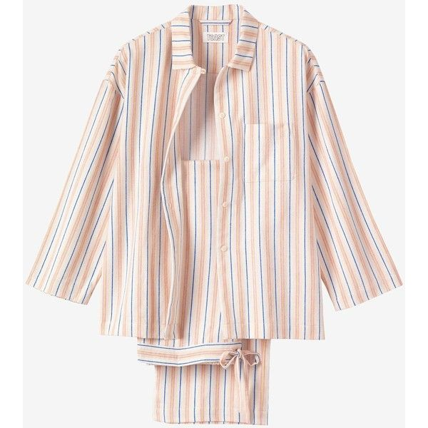 3844117bbc Toast Striped Flannel Pyjama (£89) ❤ liked on Polyvore featuring intimates