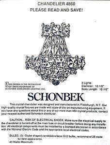 Swarovski Crystal Chandelier / Schonbek Collection / Strass City ...