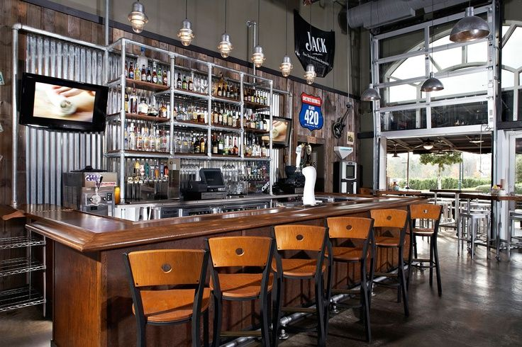 industrial bar and restaurant design - Google Search | Bar ...