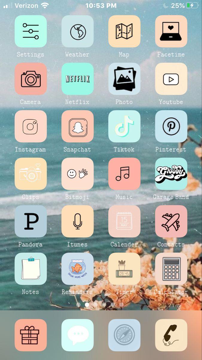 𝙰𝚎𝚜𝚝𝚑𝚎𝚝𝚒𝚌 Phone In 2020 Ios App Icon Iphone Screen Iphone Design