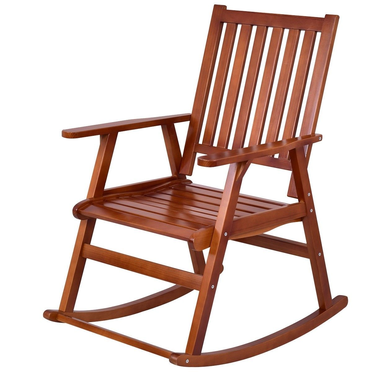 Indoor Outdoor Wood Single Porch Rocking Chair Rocking