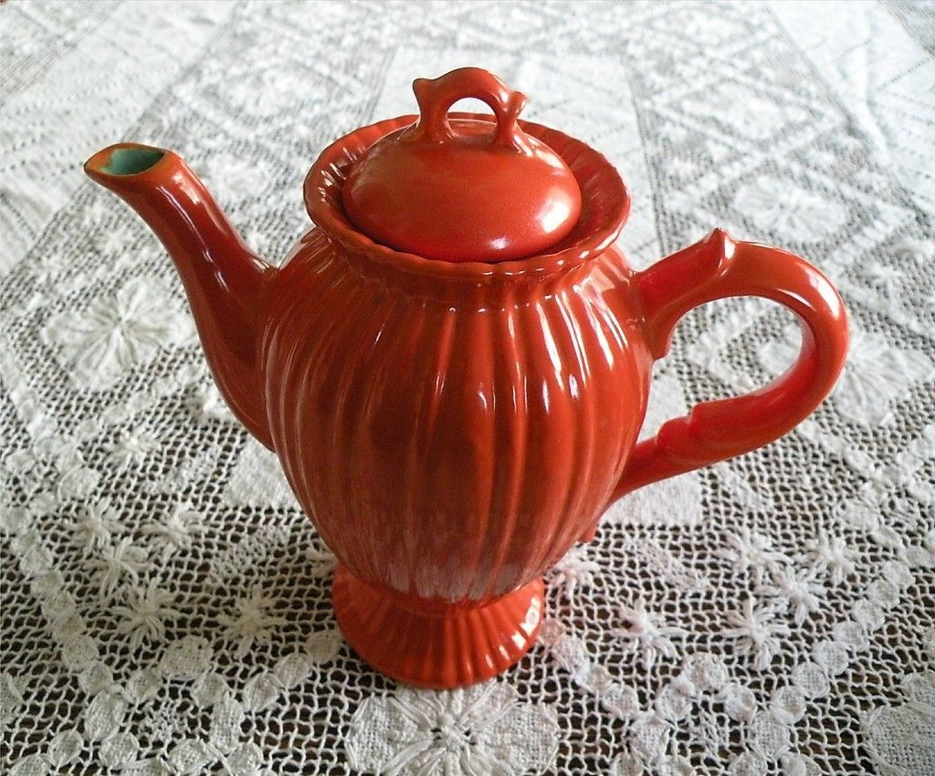 8\  Demitasse Coffee Pot by Stangl Colonial 1388 Tangerine Orange | eBay & 8\