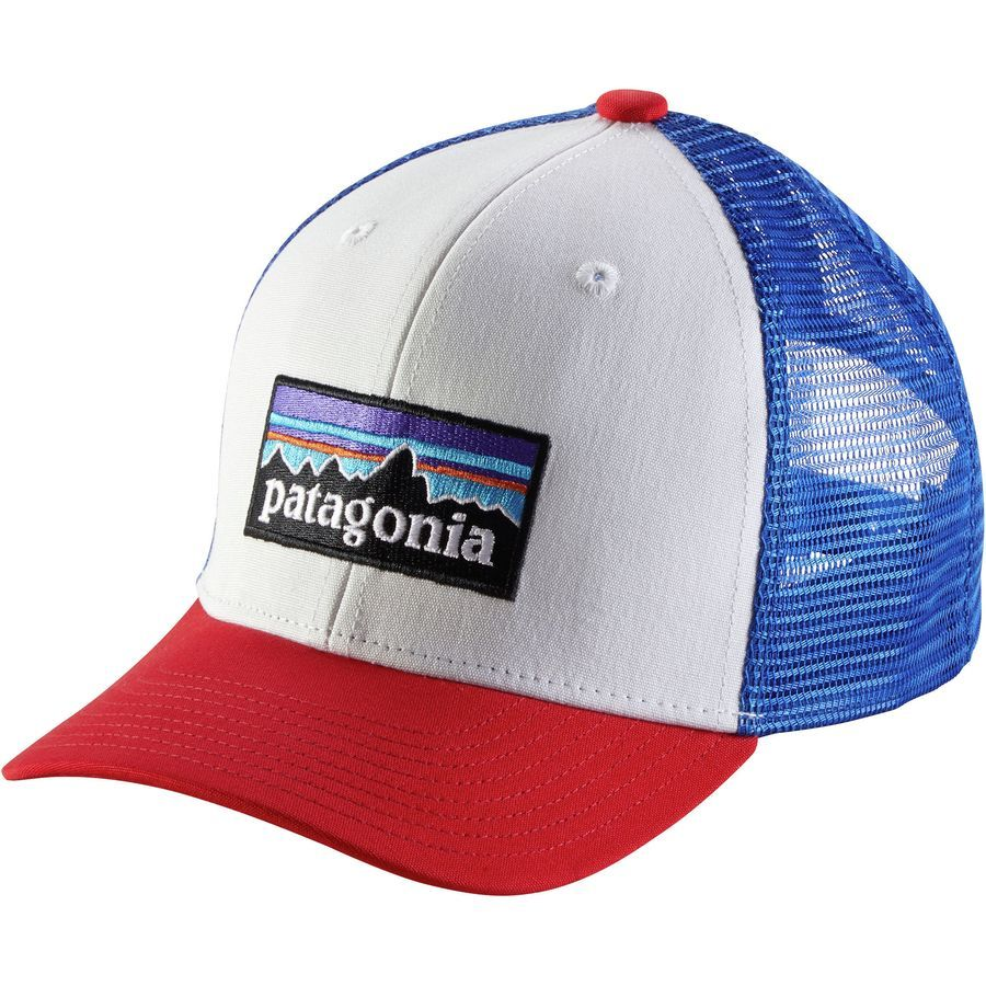 f81605c2fc032b Patagonia - Trucker Hat - Boys' - P-6 Logo/White | For my Benson Boy ...