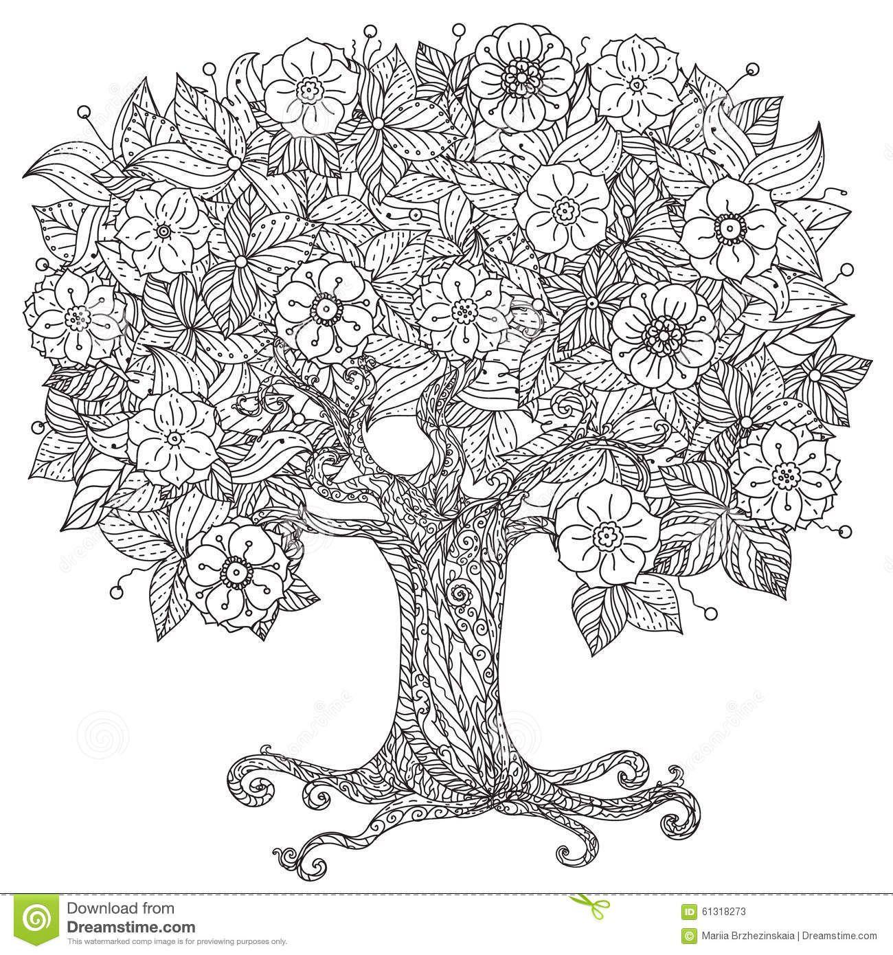 Circle Orient Floral Black And White Stock Vector Image 61318273 Wenn Du Mal Buch Zentangle Ausmalbilder