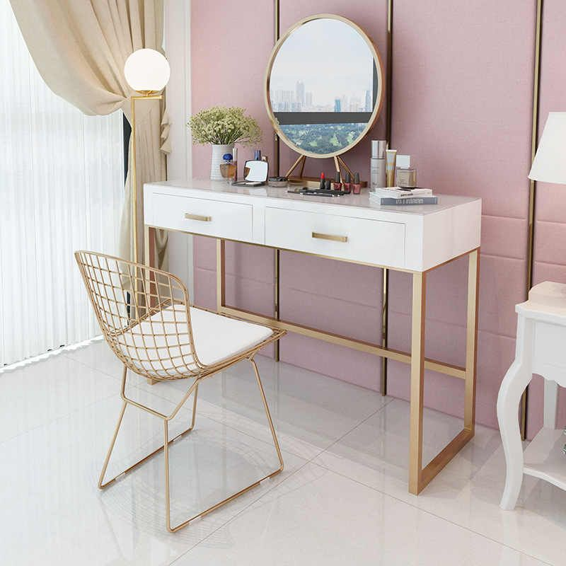 Upscale Dresser Table Mirror With Chair Vanity Table Makeup Stool Drawers Modern Tocador Mesa Asse In 2020 Dressing Table Vanity Simple Dressing Table Vanity Table Set