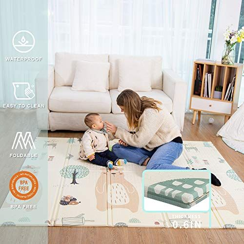 Baby Play mat playmatBaby mat Folding Extra Large Thick Foam Crawling playmats Reversibl