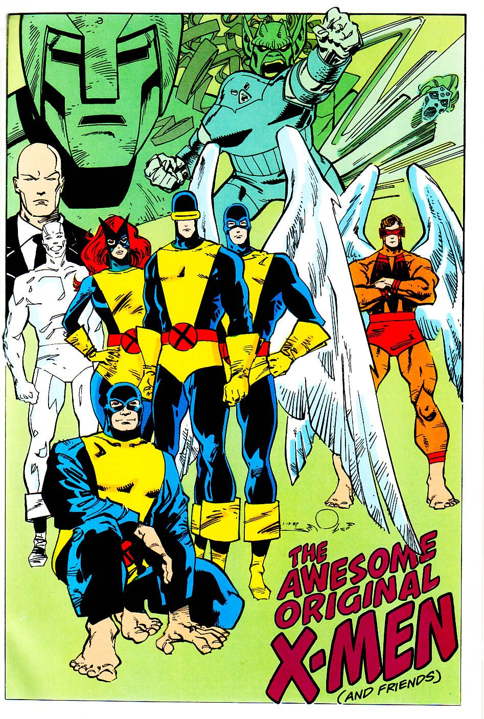 The Awesome Original X Men And Friends By Walt Simonson Comic Books Art Comics Marvel Comics Art