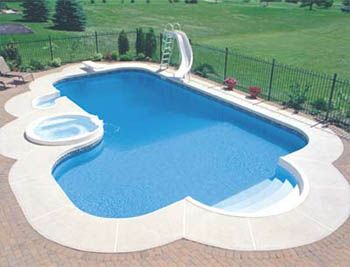 1000 ideas about fiberglass inground pools on pinterest fiberglass swimming pools small inground pool and small pool ideas - Inground Pool Designs Ideas