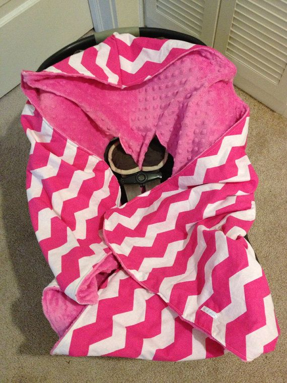 Hooded Infant Car Seat Blanket MINKY By KDsquared On Etsy 5000