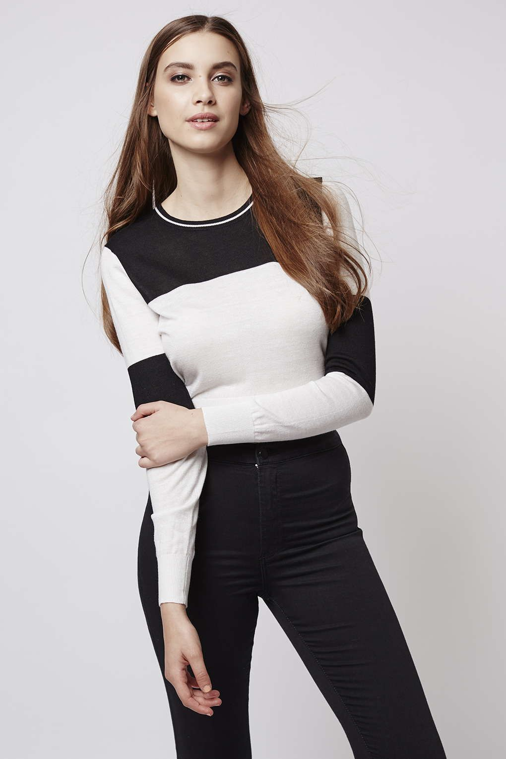 Free Shipping Geniue Stockist Glamorous Colourblock Jumper Discount Wide Range Of 2018 Newest Sale Online Finishline Sale Online Official For Sale lKR5B