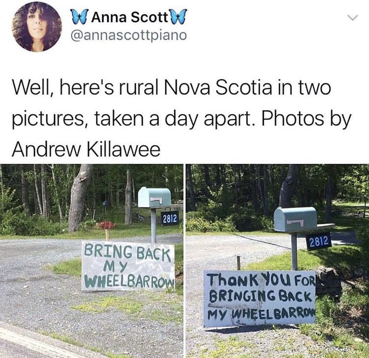As A Person From Nova Scotia I Can Say That Things Like This