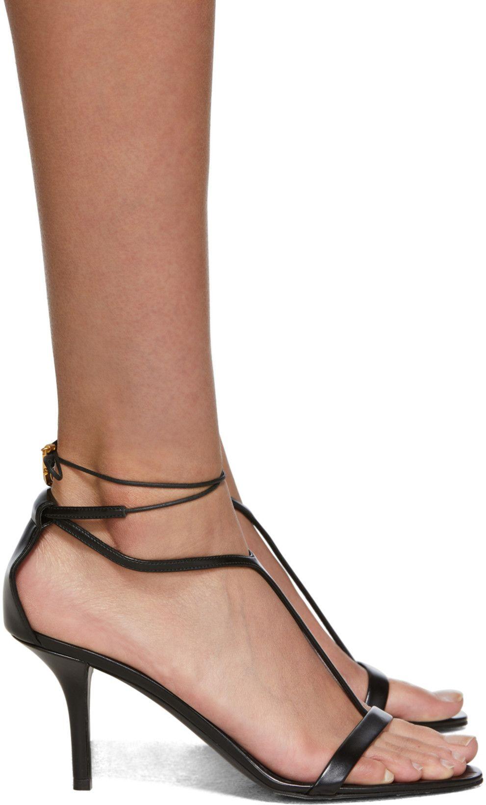 Stella Mccartney Black Strappy Sandals Ssense Canada Black