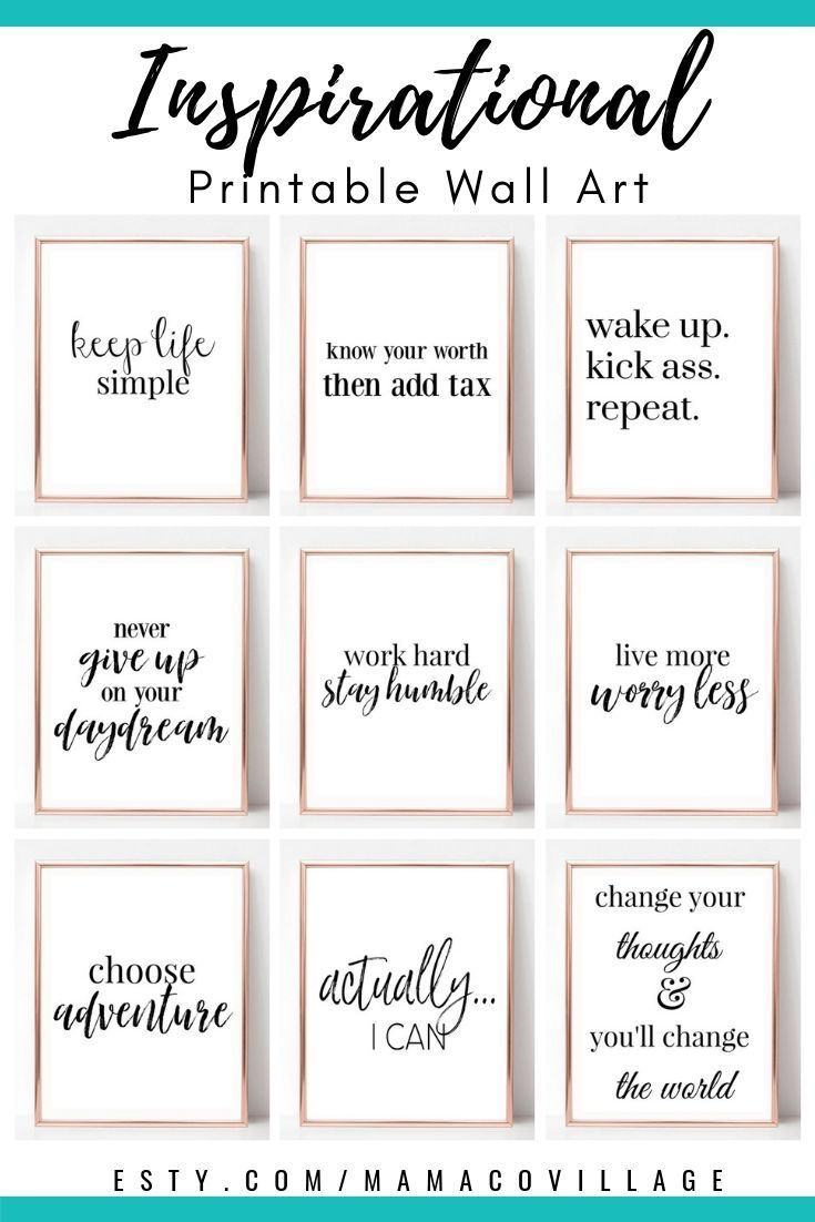 Printable Planners Wall Art & Organizers by MamaCoVillage on Etsy