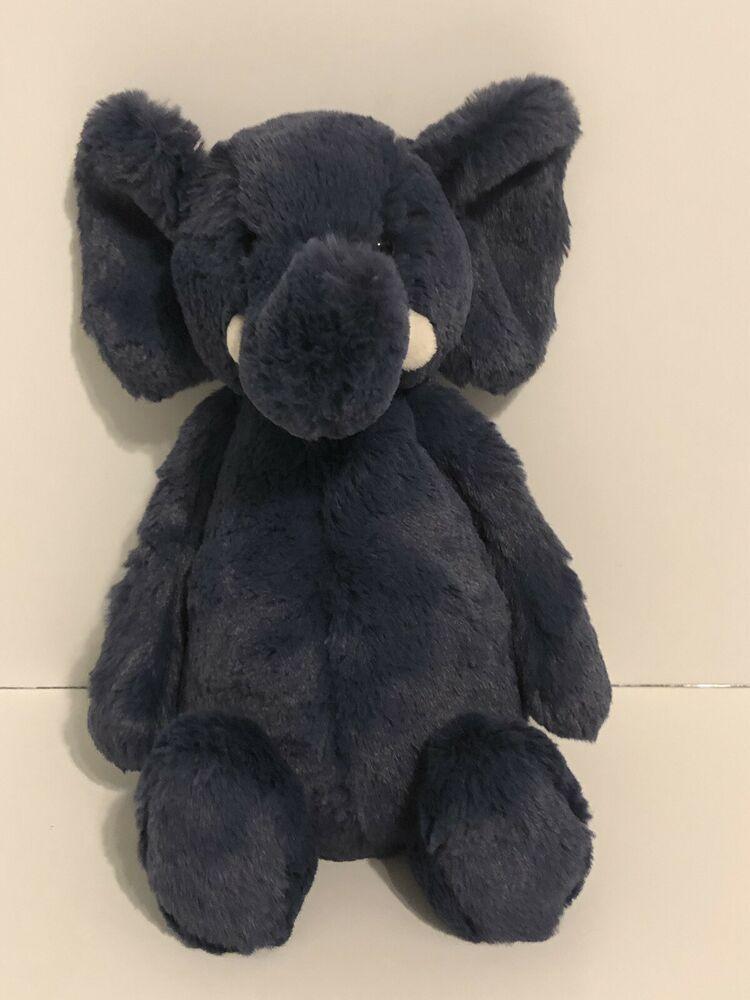 Details About Jellycat Bashful Blue Elephant Stuffed Animal Medium 12 Inches Baby Plush Elephant Stuffed Animal Baby Plush Baby Plush Toys