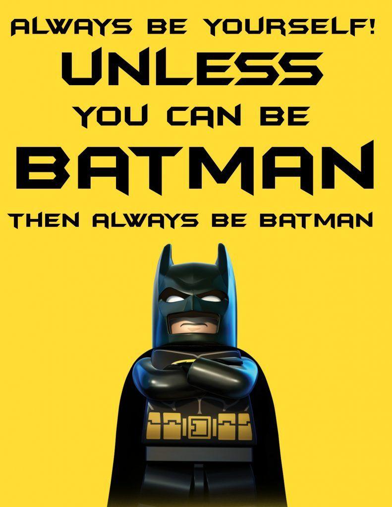 Free The Lego Batman Movie Printable Regalos De Batman
