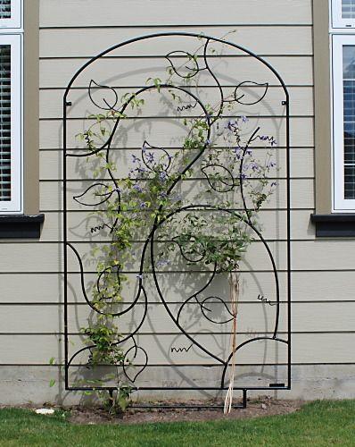 Wing Nut Designs Metalwork Garden Trellis Designs Metal Trellis Fence Landscaping