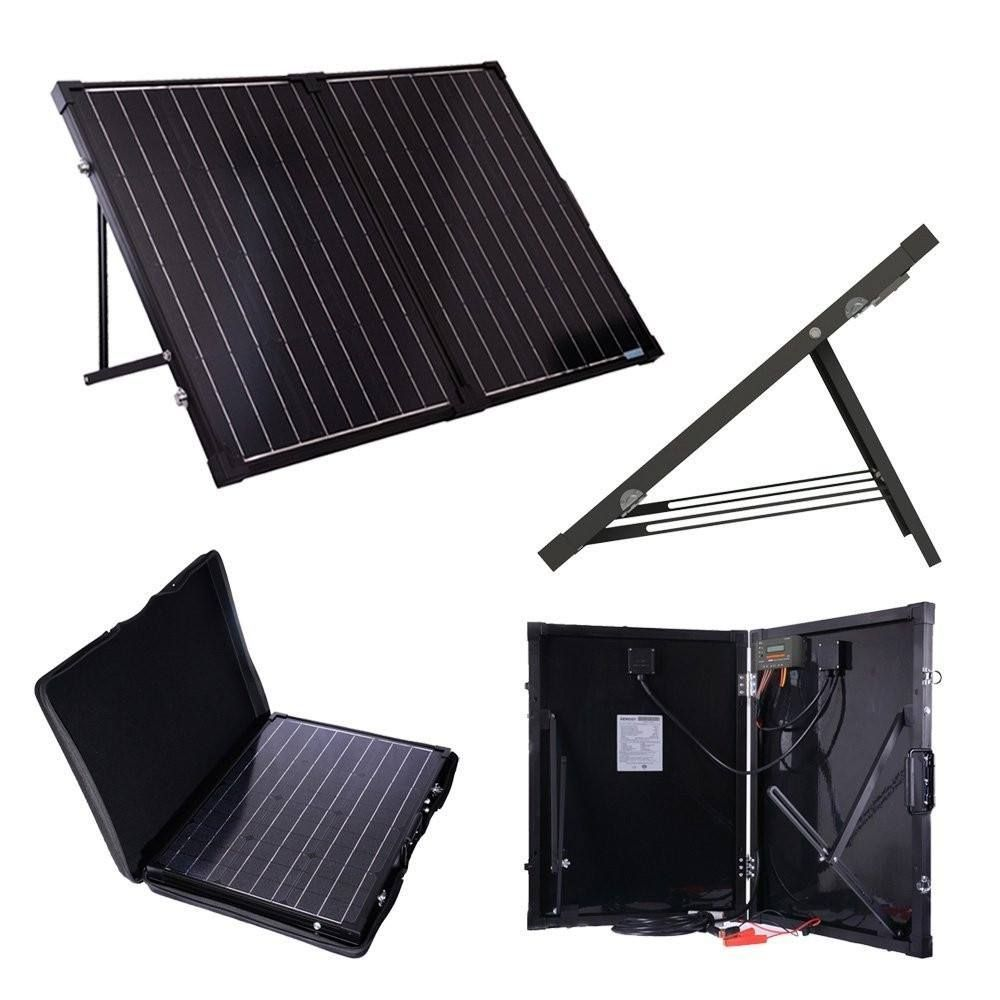 100 Watt Folding Solar Suitcase Batter Charger Solar Panels Solar Panels For Home Best Solar Panels