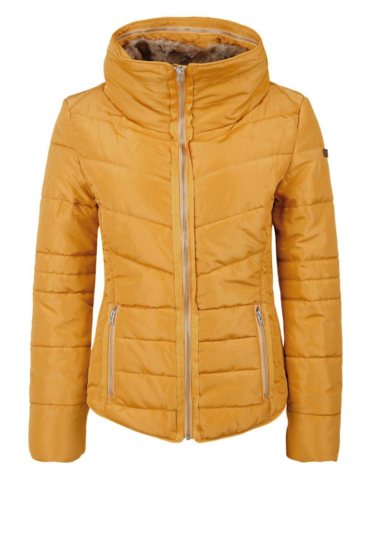 steppjacke mit fake fur-kragen kaufen   s.oliver shop   Одежда