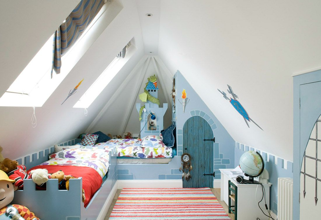 мансардная комната для мальчика