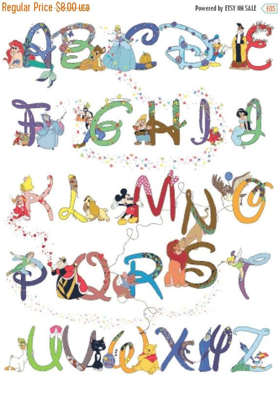 ON SALE Counted Cross Stitch Patterns Alphabet by lovemystitch