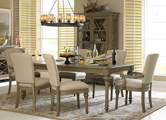 This Light Wood Of This #havertys Lakeview Collection Is Perfect For The  Year Of The · Grey Dining RoomsDining Room Table ...