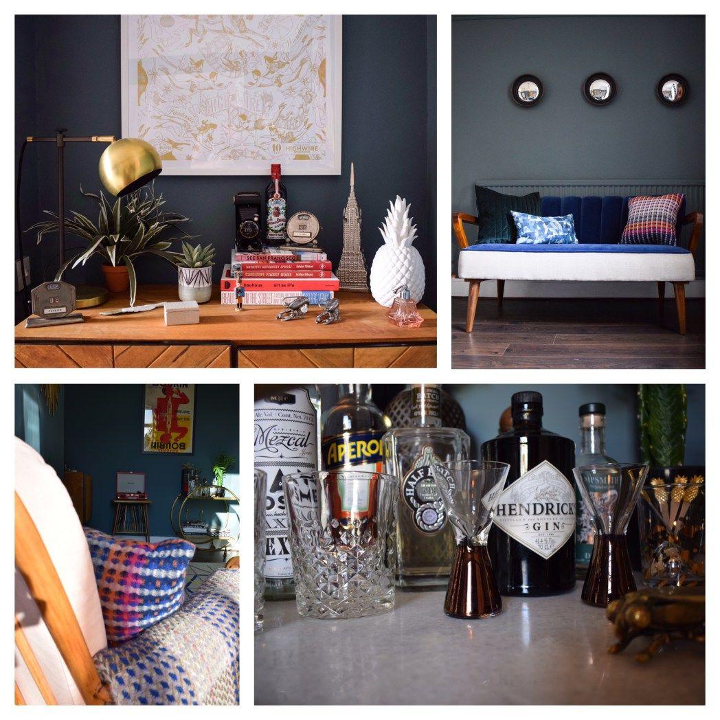 eclectic vintage art deco colourful bohemian modern interior decor design & styling ideas