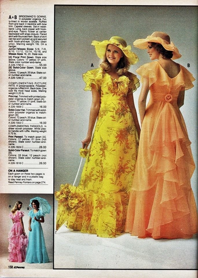 ee82a4cabb7 JC PENNEY 1978 Wore the peach dress with the hat in my sister s outdoor  wedding 6-17-1978