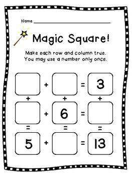 Magic Square Puzzle Bundle: Addition & Subtraction Math