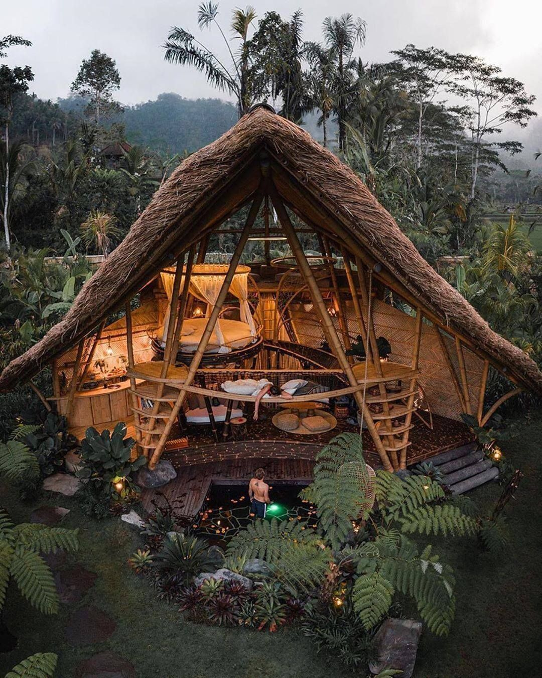 Bali Treehouse In 2020 Bamboo House Bamboo Architecture Architecture
