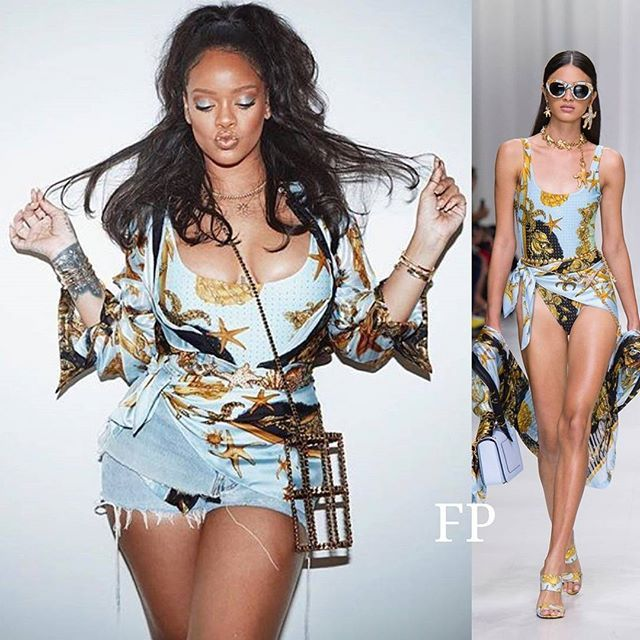 rihanna en maillot de bain de la collection t 2018. Black Bedroom Furniture Sets. Home Design Ideas