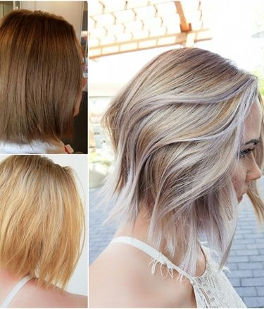 HOW TO Grown Out Ombre Transformed Into An Edgy Blonde Lob