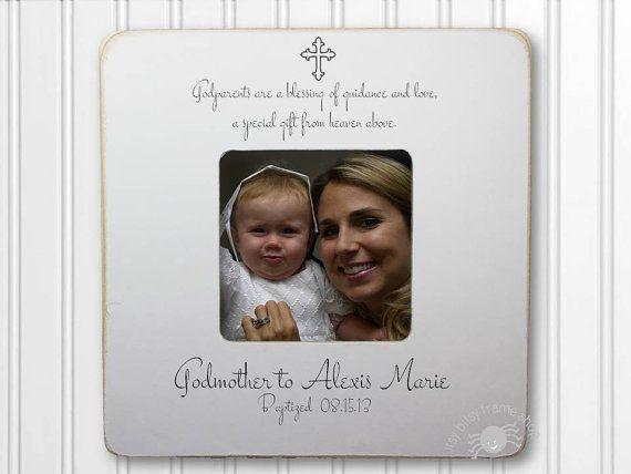 Godmother Gift Godmother Frame Gift for Godmother Baptism Frame ...