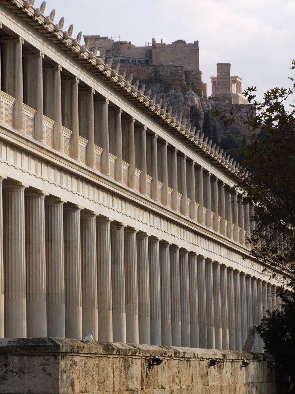 Stoa Of Attalos The Stoa Of Attalos At The Agora In Athens