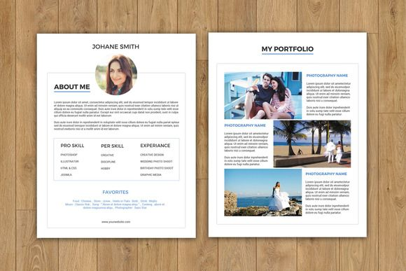 Photographer About me Page-V160 - Clean Resume, R\u2026 Resume Skills
