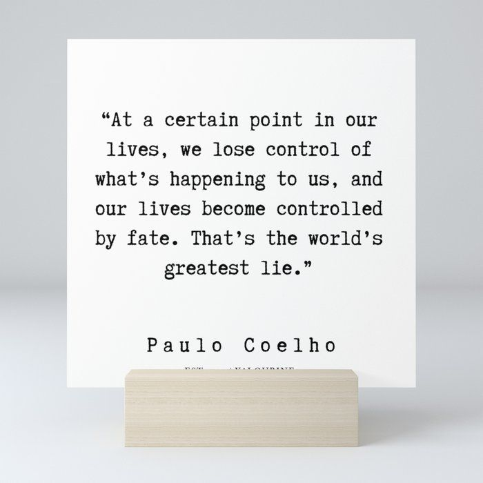 19    | Paulo Coelho Quotes | 190703 Mini Art Print by Quotes And Sayings