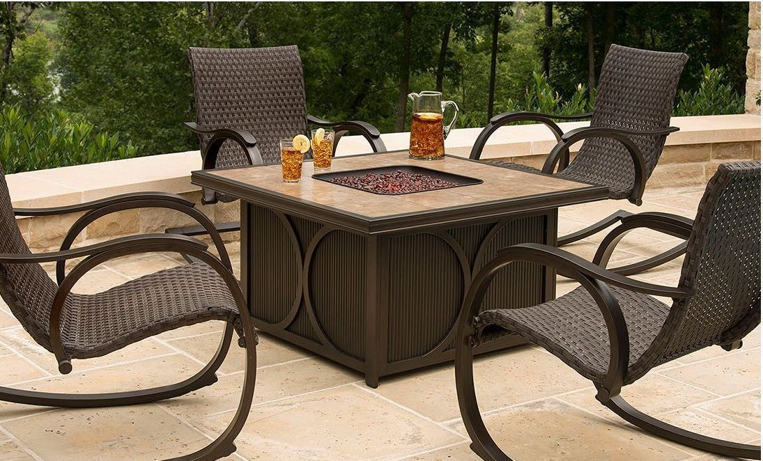 Fire Pit Table Sets | See the small card with the code on it? The ...