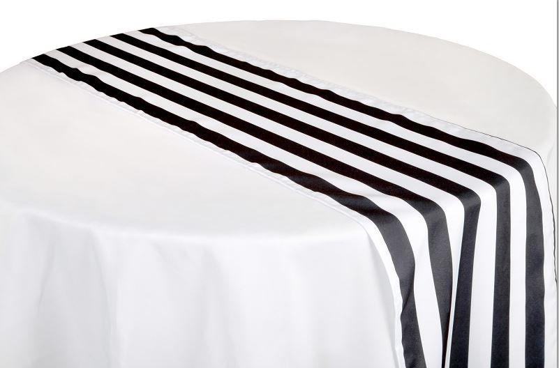 12 Black and White Stripe Table Runner, Black and White Table Runner, Halloween Decor, Wedding, Kate Spade, Formal Dinner, Pirate Party,