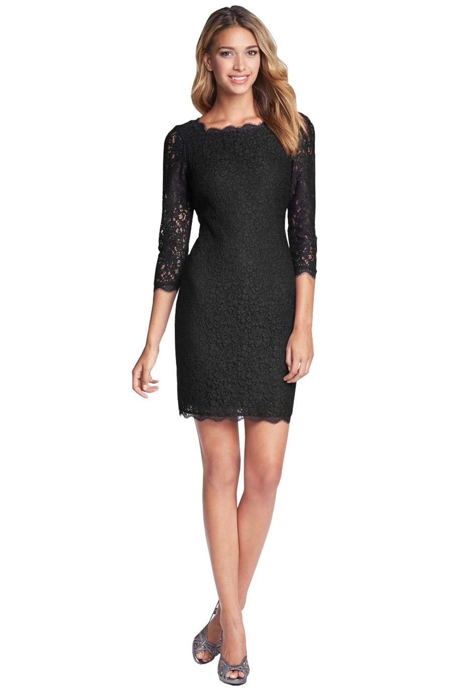 Bodycon sheath sleeve full zip back short lace dress lace