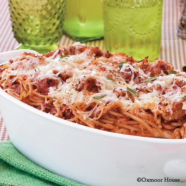 70 Saucy Creamy And Cheesy Italian Christmas Food Recipes: Gooseberry Patch Recipes: Cheesy Baked Spaghetti. A Very