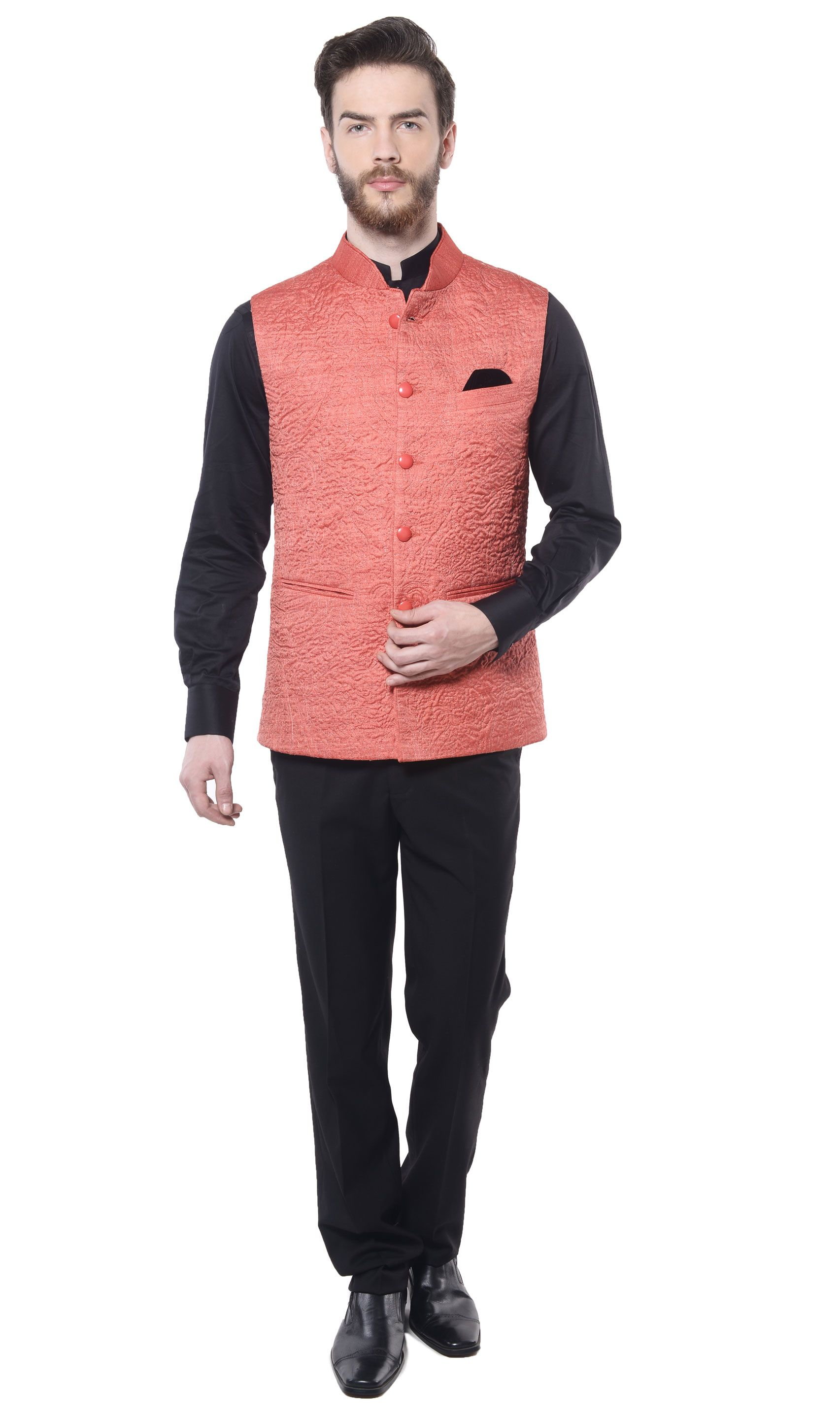Sleeveless nehru suit for deepu in different color indian