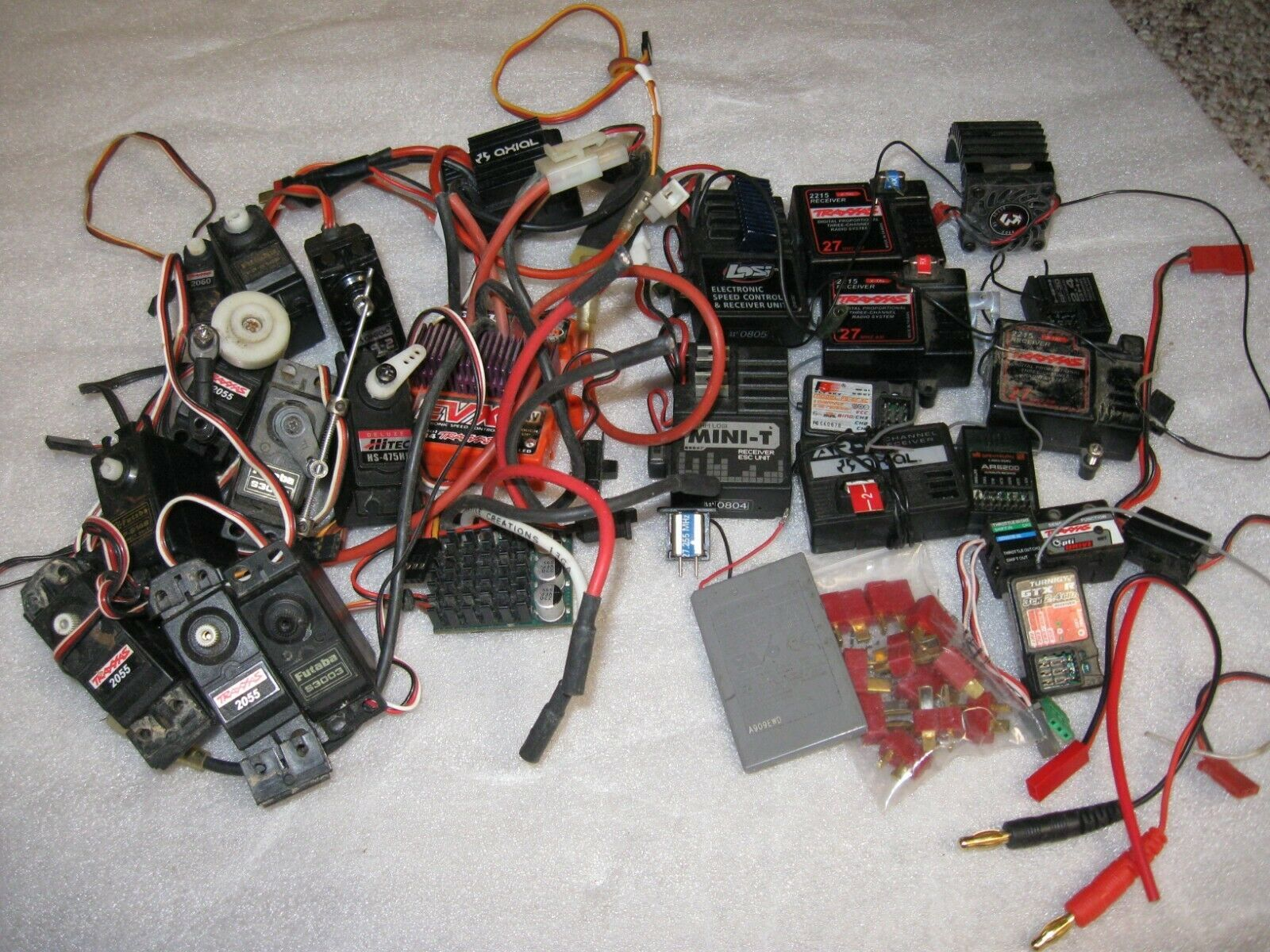 Mixed RC Car Parts Including 10 Receivers,9 Indirect